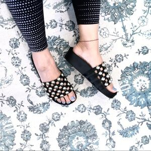 Catherine Malandrino Studded Slide Sandal Size 6.5